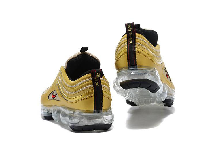 size 40 e46c6 95579 Nike Air VaporMax 97 Silver Bullet Metallic Gold Women's Men's Running  Shoes AJ8056-700