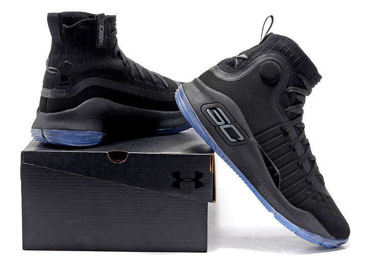 ba867e92bd36 Under Armour Curry 4 Triple Black Men s Basketball Shoes NIKE ...