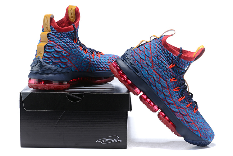406381bac9c61 Nike LeBron 15 New Heights Dark Atomic Teal Team Red Muted Bronze Ale Brown Men s  Basketball