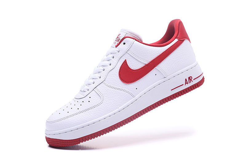 60d88d9c725d83 Nike Air Force 1 07 SE White Speed Red Men s Women s Running Shoes Sneakers