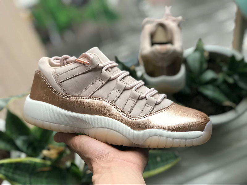 best service 511e7 8c220 Nike Air Jordan Retro 11 GS Rose Gold Womens Athletic Basketball Shoes  AH7860-105