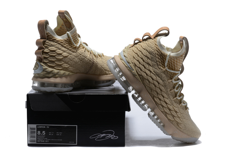 260ca57511df7 Nike Lebron 15 XV Ghost String Sail Vachetta Tan LIMITED Men s Basketball  Shoes