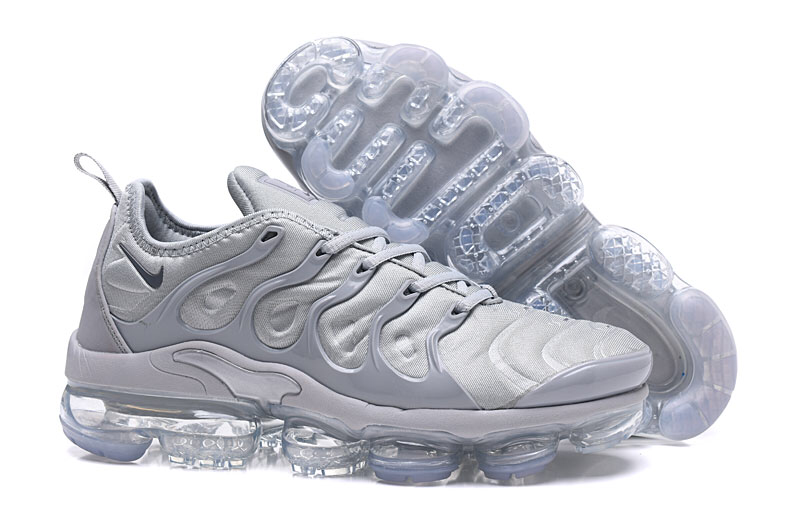 best service 0c860 d35e3 Nike Air VaporMax Plus TN Wolf Grey Men's Running Shoes NIKE-ST000971