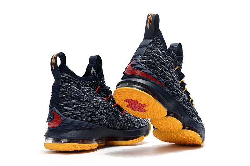 a685565e2b38 ... sale nike lebron 15 navy blue yellow mens basketball shoes fcdc3 0b422