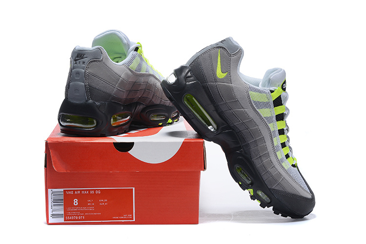 best service afef7 d543e Nike Air Max 95 Black Volt Medium Ash Dark ...