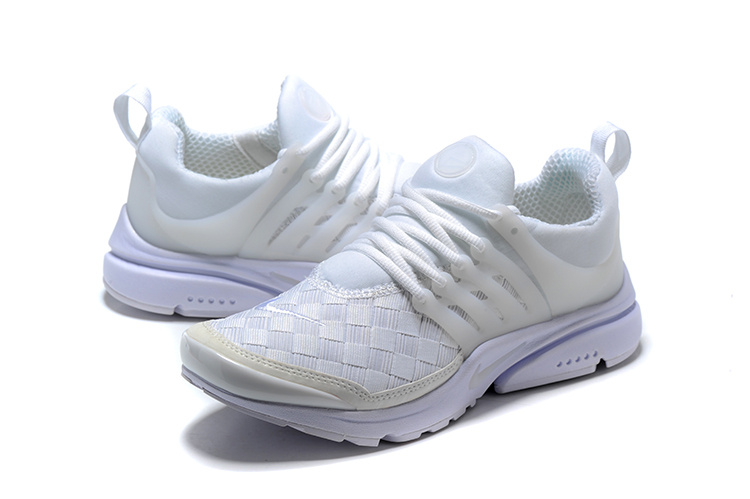 size 40 ccbb5 28e56 Nike Air Presto SE Woven Triple White Men s Women s Running Shoes