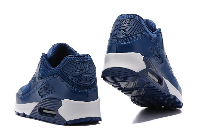 super popular 534e4 35ed2 Nike Air Max 90 Navy Blue White Men s Women s Running Shoes Sneakers
