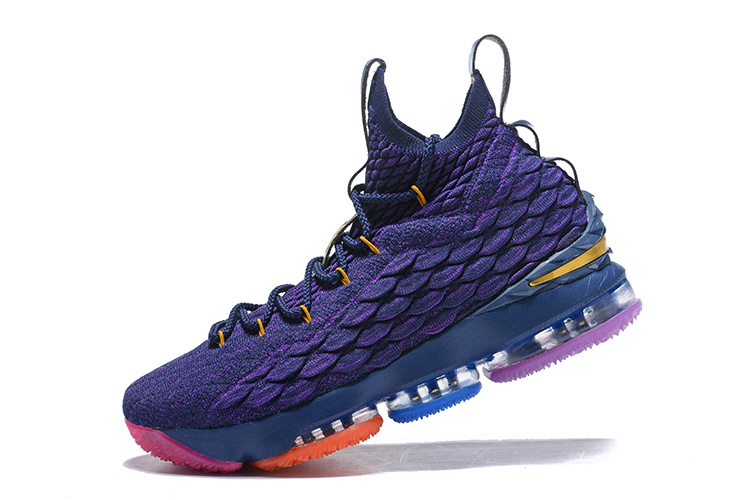 92ef114e1a7a Nike Lebron 15 XV Rainbow Purple Men s Basketball Shoes NIKE ...