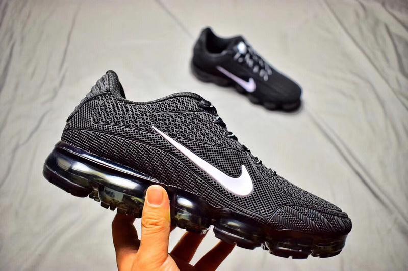 new style 393e7 184e1 Nike Air Max 2018 Kpu VaporMax Black White Men's Women's Running Shoes  NIKE-ST000607
