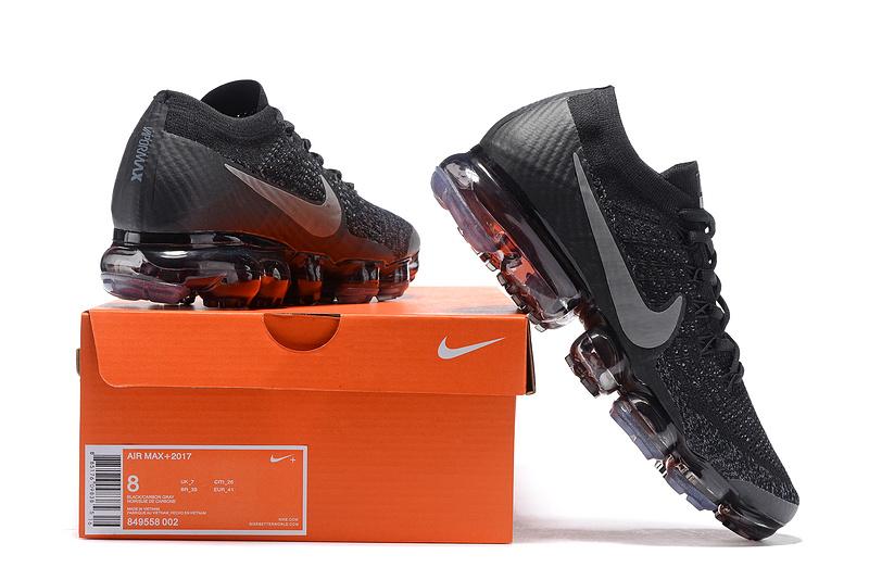 newest 212eb 76d26 Nike Air VaporMax Flyknit 2018 Black Gery Men's Running Shoes 849558-002