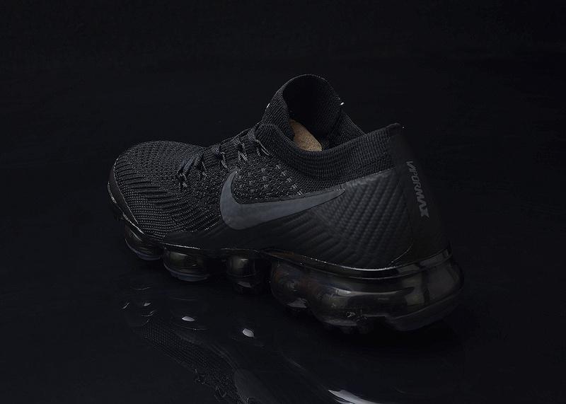 sale retailer 7268b 11444 Nike Air VaporMax Flyknit AIR 2018 Triple Black Men's Running Shoes  NIKE-ST000025