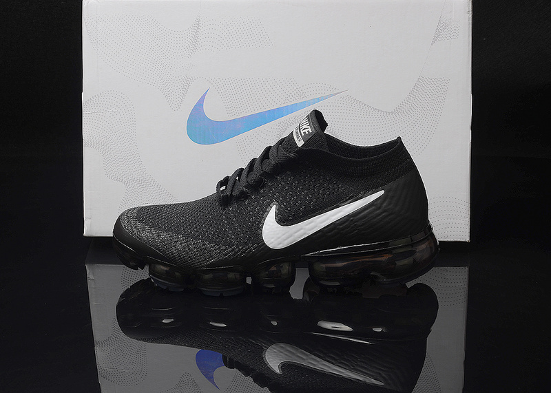 half off a6421 9e8e1 Nike Air VaporMax Flyknit AIR 2018 Black White Men's Running Shoes  NIKE-ST000017