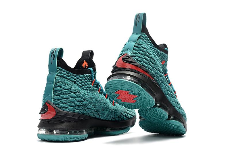 74c2e60b20f Nike LeBron 15 Black Green Men s Basketball Shoes NIKE-ST001752 ...