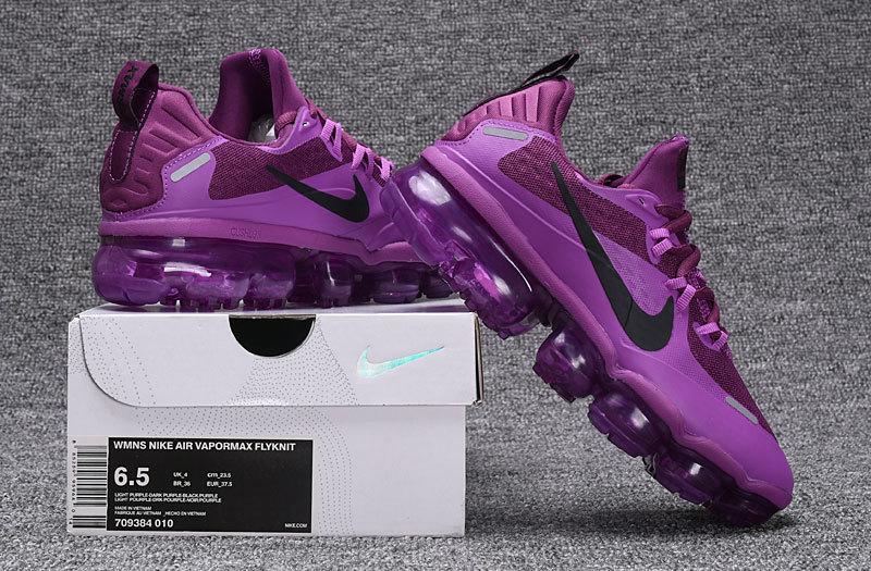 super popular dbf5d 1a390 Nike Air Vapormax Flyknit Triple Black Women's Running Shoes 709384-010