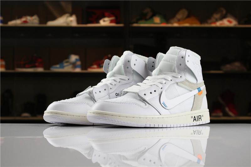 best service 1141d 7e580 Nike Air Jordan 1 OFF-WHITE White Mens Athletic Basketball Shoes AQ0818-100