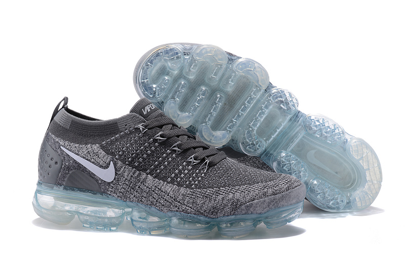 meet ae7d8 6ac13 Nike Air VaporMax Flyknit 2 TPU Wolf Grey White Women's Men's Running Shoes  NIKE-ST000579