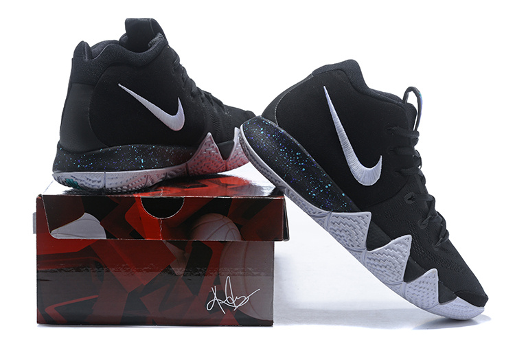 77e94a541f5f Nike Kyrie 4 Black Anthracite Light Racer Blue White Men s ...