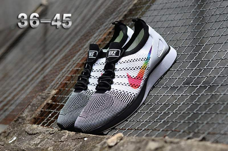 9479c275290c Nike Air Zoom Mariah Flyknit Racer Black White Multi-Color Women s ...