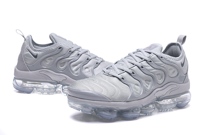 best service 241db 0647a Nike Air VaporMax Plus TN Wolf Grey Men's Running Shoes NIKE-ST000971