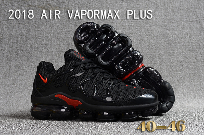 bb496dde2d915 Nike Air Vapormax Plus KPU TN + 2018 Black Red Men's Running Shoes ...