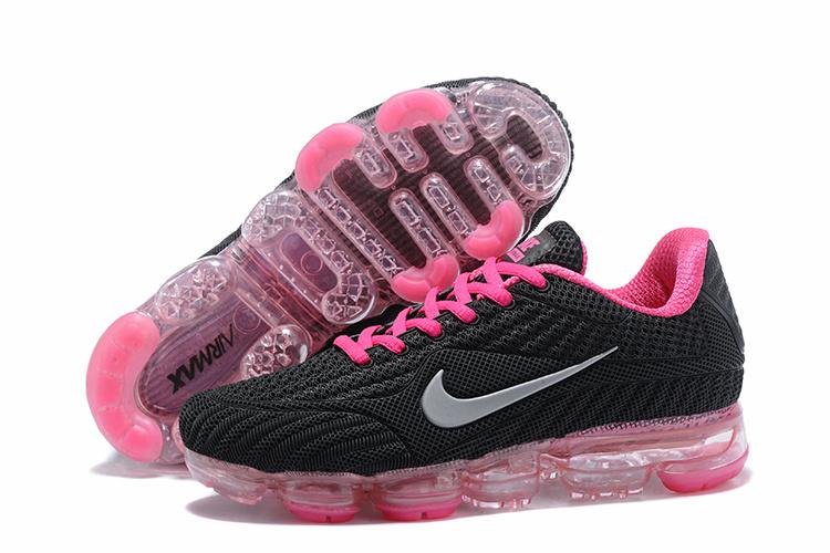 c02262d6fbfb0 Nike Air Vapormax Flyknit Kpu Black Pink White Women s Running Shoes ...