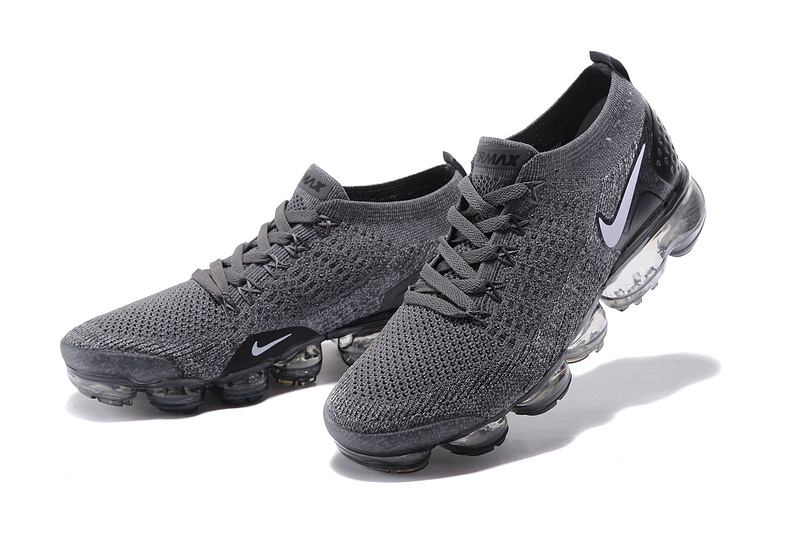 sports shoes 2ad97 6edd9 Nike Air VaporMax Flyknit 2 TPU Wolf Grey White Women's Men's Running Shoes  NIKE-ST000577