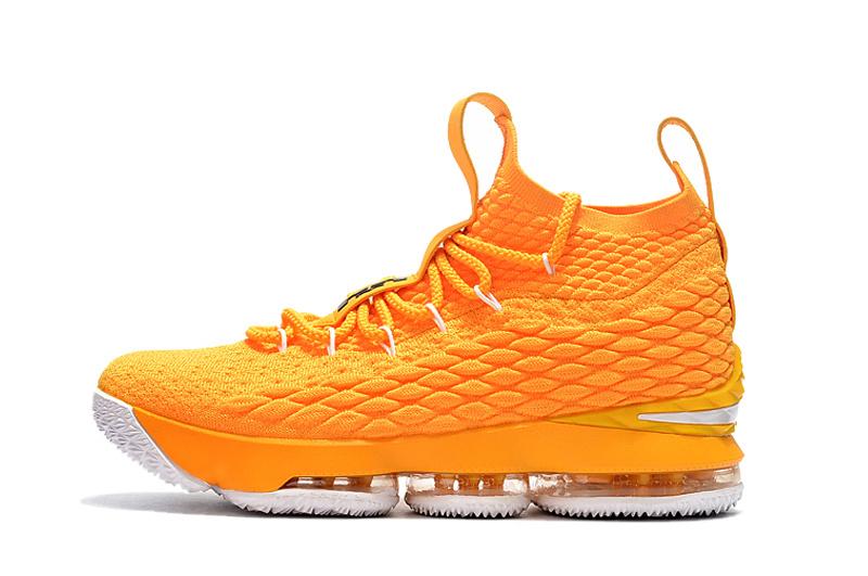1b73f7905678 Nike LeBron 15 Yellow White Men s Basketball Shoes NIKE-ST001755 ...
