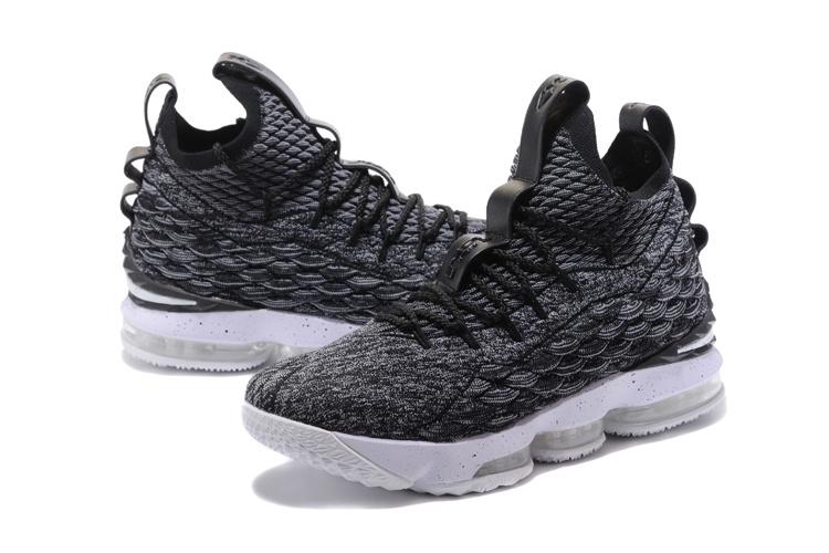 cf4c69fcc385 Nike Lebron 15 XV Oreo Ashes Men s Basketball Shoes 897648-002 ...