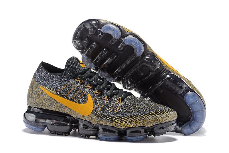 new styles 57521 0307c Nike Air VaporMax Flyknit 2018 Black Gold Men's Running Shoes 849558-006