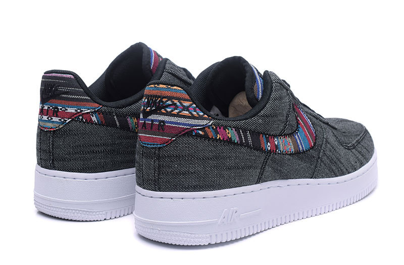 meet 4a5e7 0d286 Nike Air Force 1 07 LV8 Afro Punk Black White Men's Running Shoes Sneakers  823511-001
