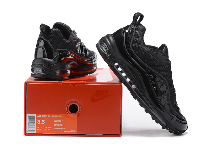 3c5fc6d197c Nike Supreme x Air Max 98 Triple Black Limited Edition Men s Running ...