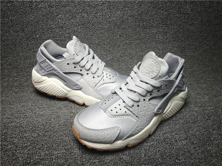 Nike Air Huarache Wolf Grey Sail Gum Medium Brown Men's Women's Casual Shoes 683818 012