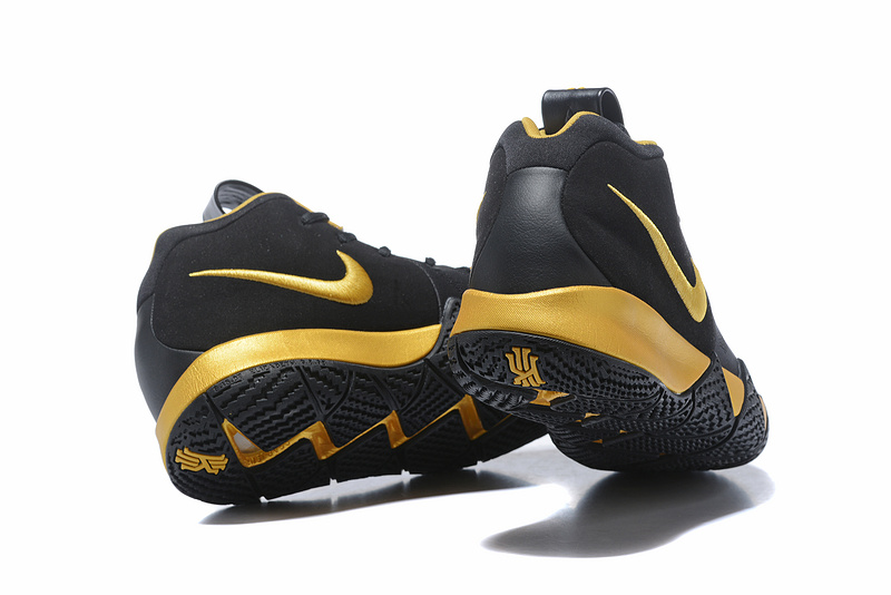 7dbe1d9b99fca Nike Kyrie 4 EP Black Gold Men's Basketball Shoes NIKE-ST001576