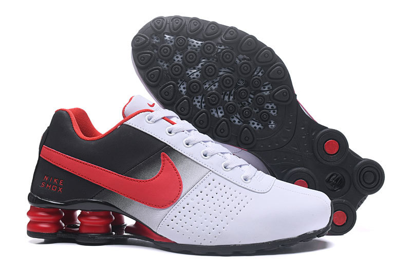 online store 56b3e a2b6e Nike Shox Deliver White Red Black NZ Men s Running Shoes