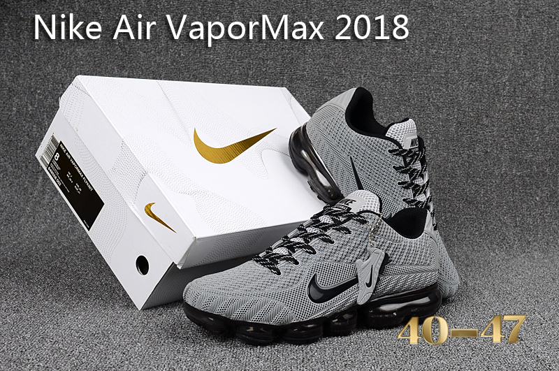 finest selection ce3e5 b324f Nike Air Vapor Max 2018 KPU Grey Black Men's Running Shoes NIKE-ST000564