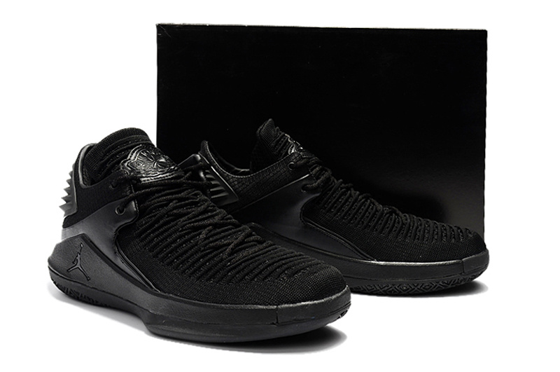27cd8a77660713 Nike Air Jordan 32 Low Triple Black Men s Basketball Shoes NIKE ...