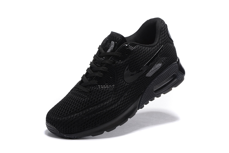 WomenMen New Style All White Nike Air Max 90 Ultra 2 0 Essential Triple White Running Shoes
