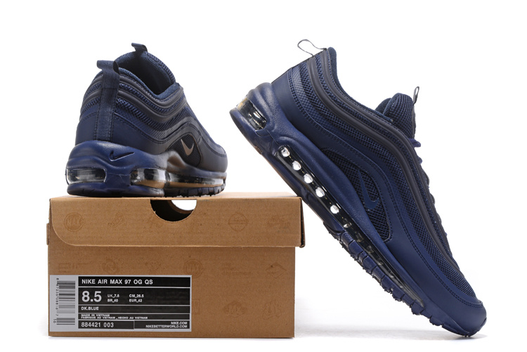 4294ed273f5c8 Nike Air Max 97 OG QS Navy Blue Men s Running Shoes 884421-003 ...