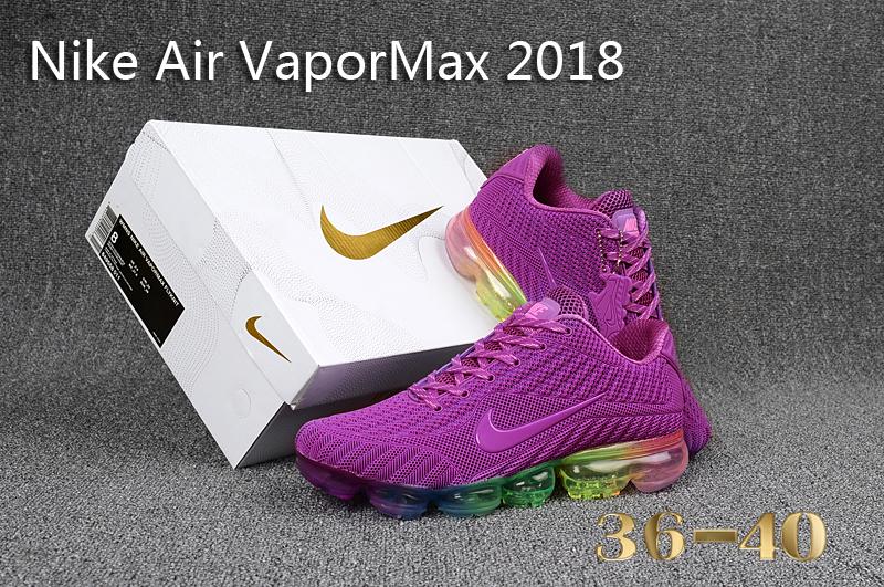 promo code d6c87 4e071 Nike Air Vapor Max 2018 KPU Purple Multi-Color Women's Running Shoes  NIKE-ST000568