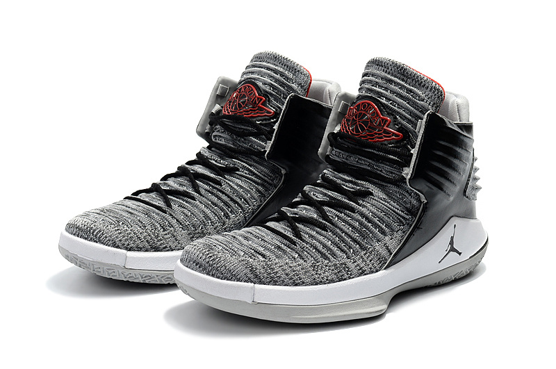 6a4bb3813e098d Nike Air Jordan 32 Black Cement MVP Black White Wolf Grey University Red  Men s Basketball Shoes