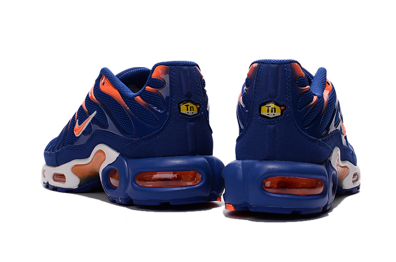 new product b237e fb486 Nike Air Max Plus TN Indigo Orange Men's Running Shoes NIKE-ST000874