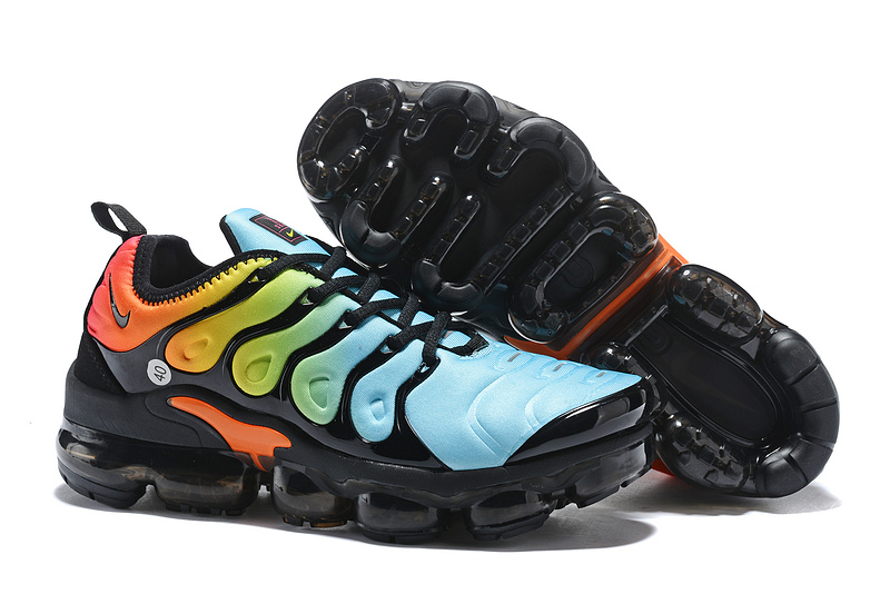 save off d266e f92d5 Nike Air Max Plus TN 2018 Spectrum Black Yellow Blue Women's Running Shoes  NIKE-ST001958