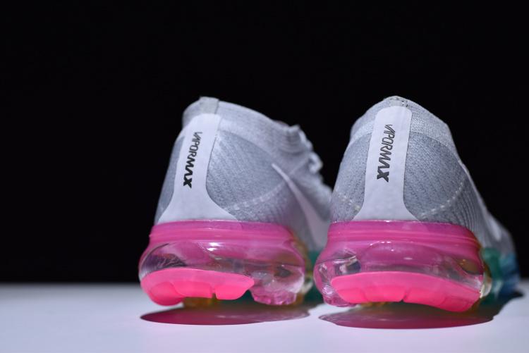 Nike Wmns Air VaporMax Flyknit Pure Plat Wolf Grey Women s Men s Running  Shoes a467b15b3