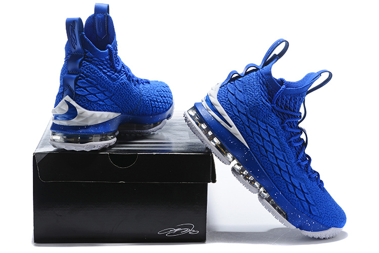 detailing d309d 6e816 Nike Lebron XV 15 Royal Blue White Men's Basketball Shoes NIKE-ST001748