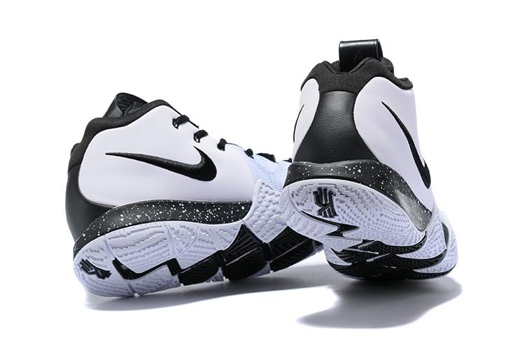 buy popular 2d46a 21e9d Nike Kyrie 4 White Black Men s Basketball Shoes