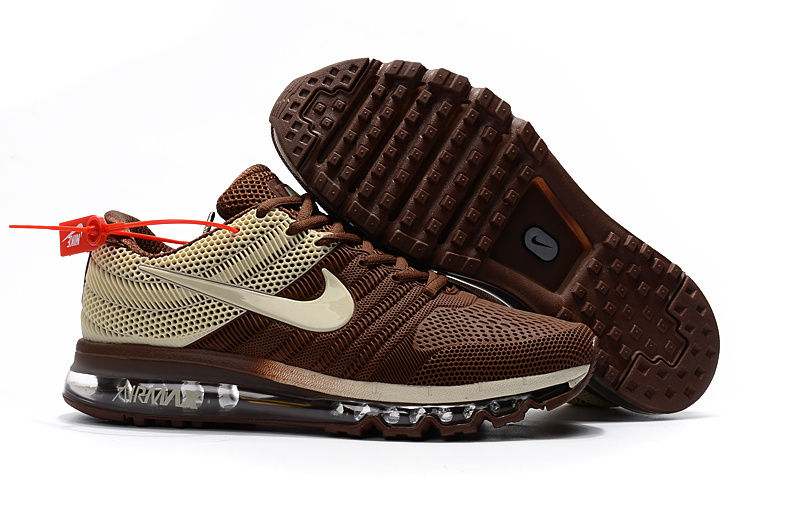 brand new 23a9d 89c75 Nike Air Max 2017 Kpu Brown Men's Running Shoes 849560-312