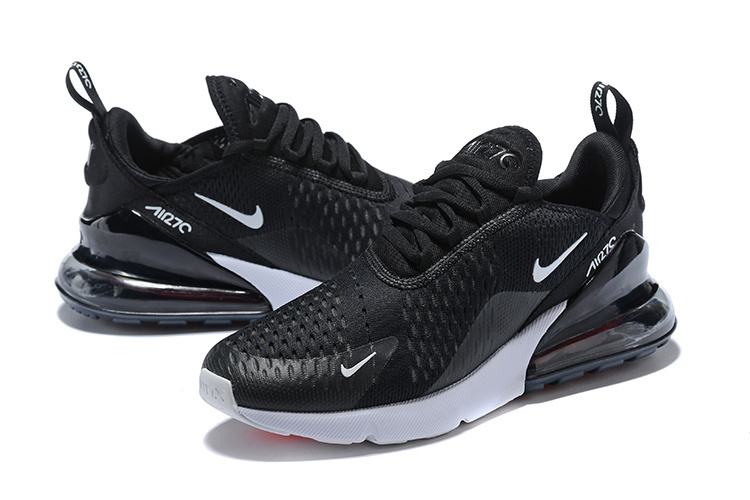 competitive price 31e70 e4bd3 Nike Air Max 270 Flyknit Black White Men's Running Shoes AH8050-002