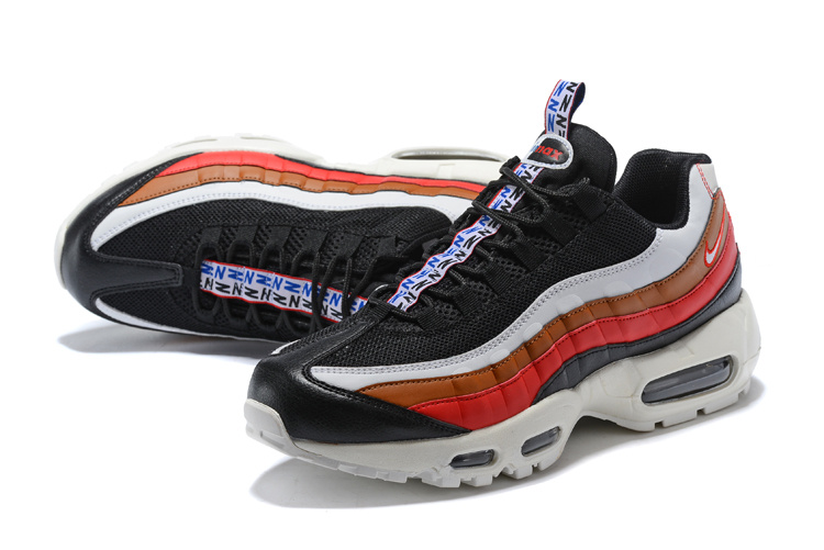 reputable site f8d87 3793d Nike Air Max 95 TT Black Sail Ale Brown Gym Red Women's Men's Running Shoes  NIKE-ST002136