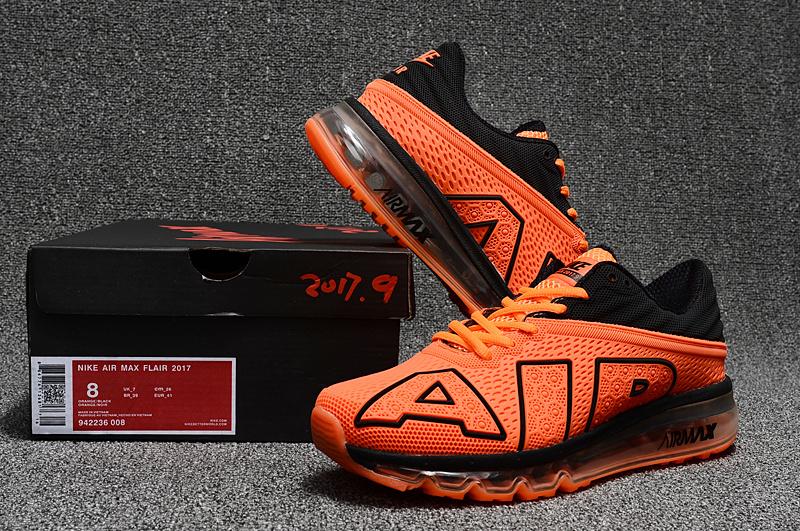 the latest ecd5d d7272 Nike Air Max Flair 2017 Kpu Orange Black Men's Running Shoes 942236-008