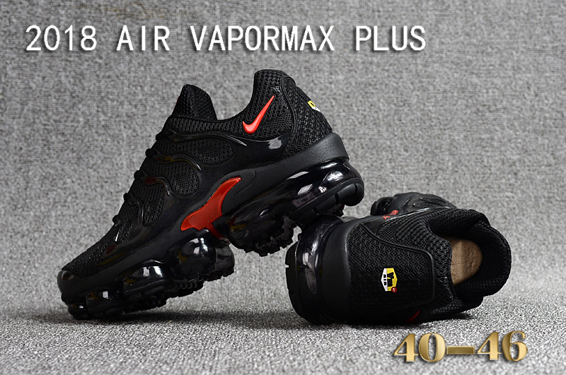 ceecc81fe9a Nike Air Vapormax Plus KPU TN + 2018 Black Red Men s Running Shoes ...